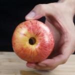 quitar corazón a manzana
