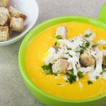 crema de zanahoria y pollo